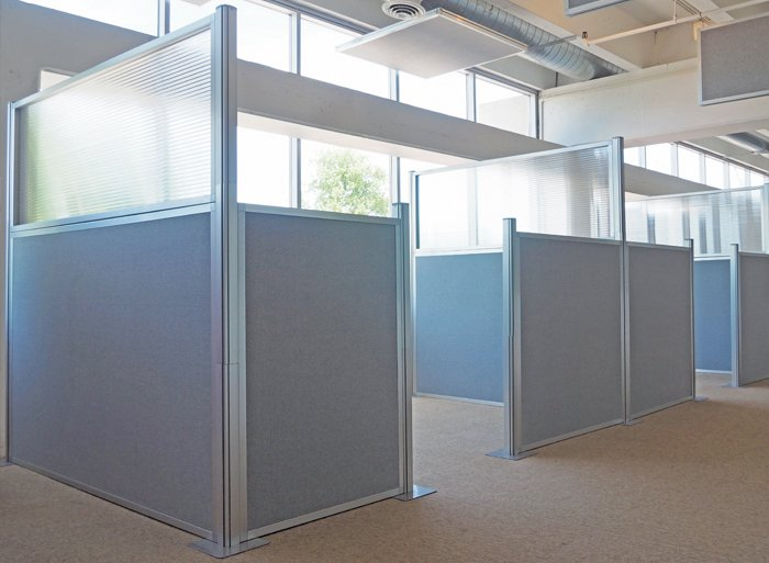 Fabric Office Partitions : Office partitions