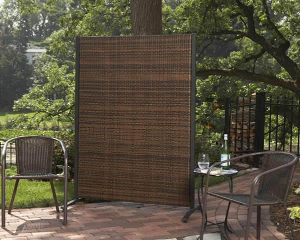 Wicker privacy screens for Temporary privacy screen