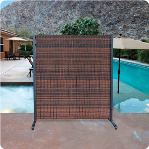 Outdoor Wicker Partions