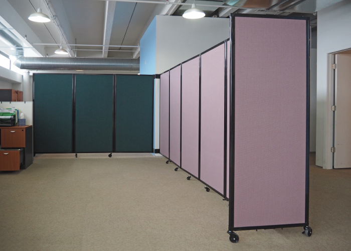 Trackmounted Accordion Doors And Room Dividers Ditch the Track